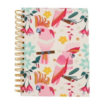 Good Vibes Notebook A5 Rose Cockatoo
