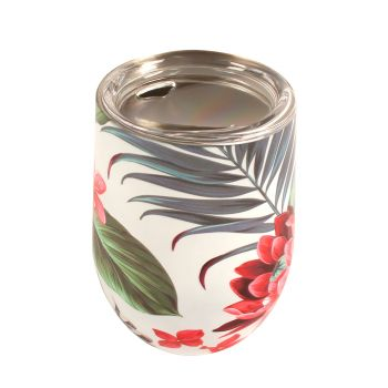 Coffee Cup Double Walled Tropical Petal