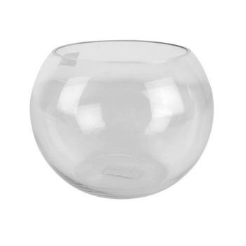 Cleo Hand Crafted Bubble Bowl Glass Vase 20cm Dia