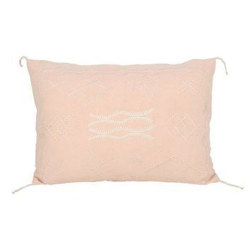 Indra Embroidery Cushion Dusty Pink