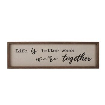 Delilah Collection Life is Better Frame