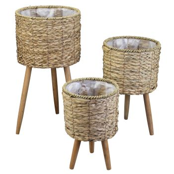 Malo Pot Plant Stands with Legs KD LGE Set of 3