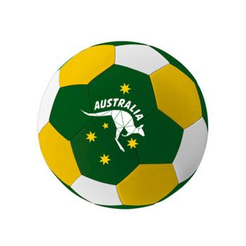 Australia Day Soccer Ball Green and Gold