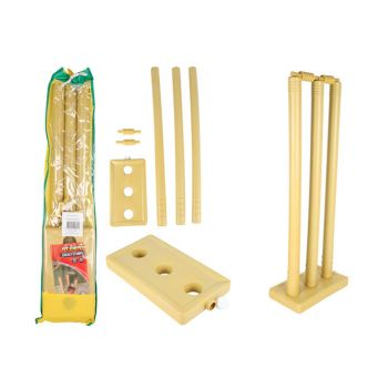 Cricket Stumps Set Water Filled Base and Bails