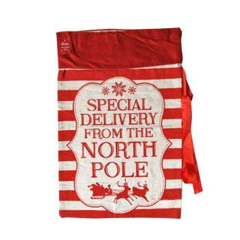 Special Delivery Christmas Sack w/ Ribbon