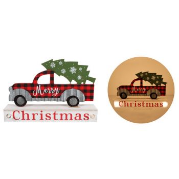 Christmas Truck Light Up Xmas Ornament Stand