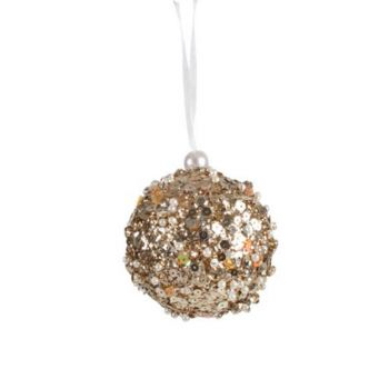 Encrusted Sequin Hanging Christmas Tree Décor