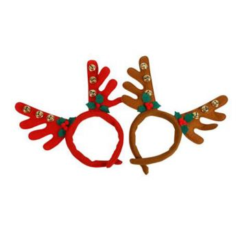 Reindeer Antlers With Bells And Berry Decors