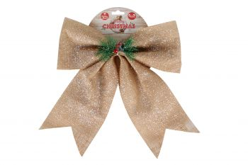 Bowknot Nature w/ White Glitter and Berries Pine