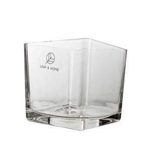 Coco Hand Crafted Square Glass Vase 15cm x 15cm