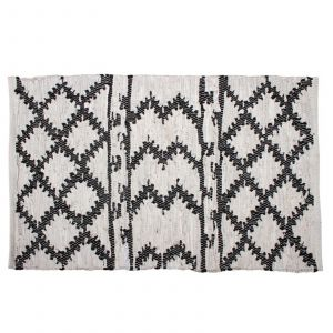 Moatsu Cotton & Leather Hand Knit Rug