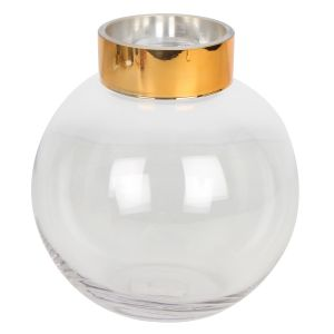 Bailey Vase Clear Round Glass